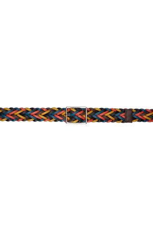 Paul Smith Reversible Multicolor Plaited Belt