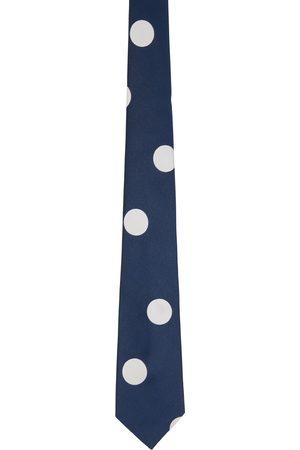 Paul Smith Navy & White Polka Dot Tie