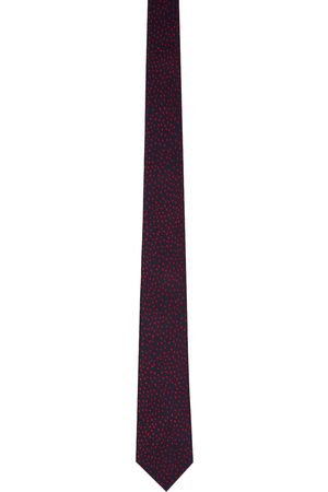 Paul Smith Navy Silk Hearts Tie