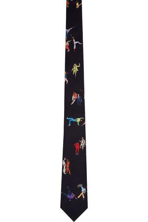 Paul Smith Navy Silk Dancers Tie