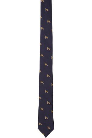 Paul Smith Navy Silk Homer Tie