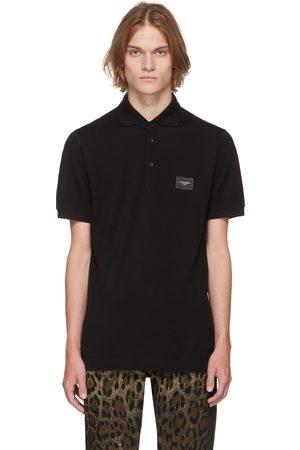 Dolce & Gabbana Men Polo Shirts - Black Essentials Logo Polo