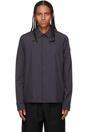 Moncler Men Shirts - Black Nylon Shirt