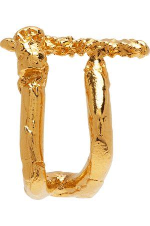 Alighieri Men Earrings - Gold 'The Uncharted Seas' Single Earring