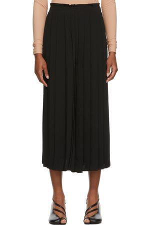 MM6 MAISON MARGIELA Black Knife-Pleated Culotte Trousers