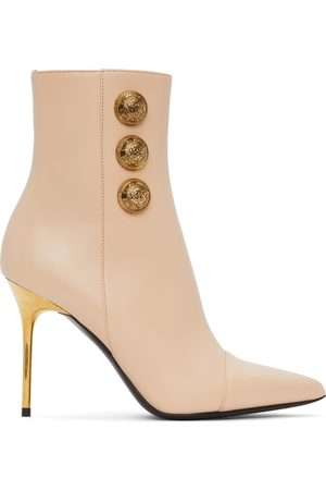 Balmain Pink Roni Ankle Boots