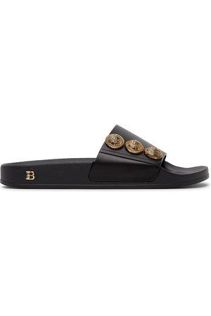 Balmain Black Symi Slides