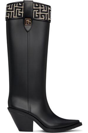 Balmain Black Tess Mid-Calf Boots