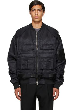 JUUN.J Black Vest Layered Bomber Jacket