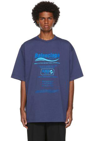 Balenciaga Navy Dry Cleaning T-Shirt