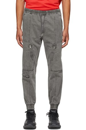 JUUN.J Grey Zipper Detail Jogger Lounge Pants