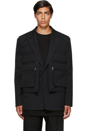 JUUN.J Black Vest Layered Blazer