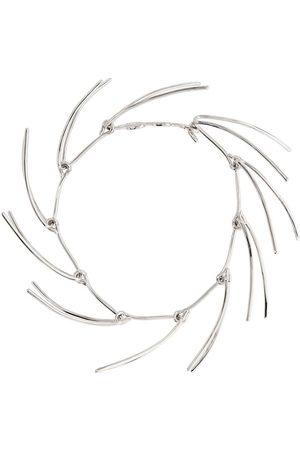 MUGLER Silver Spike Necklace