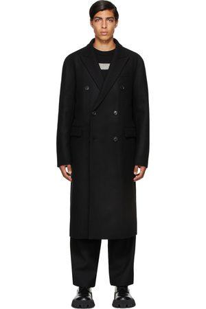 JUUN.J Black Wool Double Breasted Coat