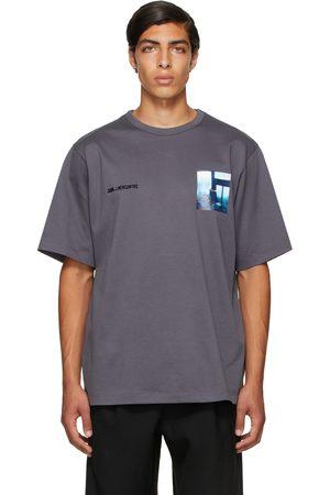 JUUN.J Grey Graphic Short Sleeve T-Shirt