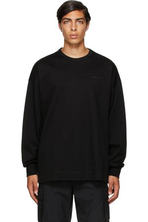 JUUN.J Men Long Sleeve - Black Logo Long Sleeve T-Shirt