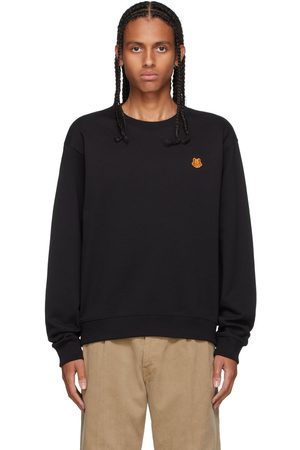 Kenzo Men Sweatshirts - Black Tiger Crest Classic Sweatshirt