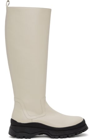 Staud Women Thigh High Boots - Off-White Bow Tall Boots