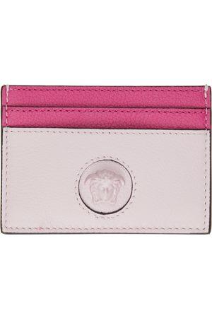 VERSACE Women Wallets - Pink 'La Medusa' Card Holder