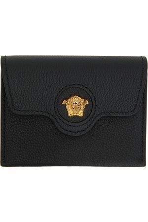 VERSACE Women Wallets - Black 'La Medusa' Card Holder