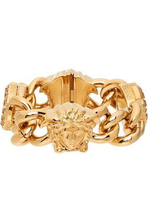 VERSACE Men Bracelets - Gold Medusa Crystal Bracelet