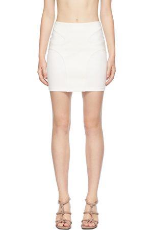 DION LEE Off-White Contour Stitch Miniskirt