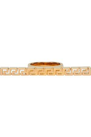 VERSACE Gold Greca Bar Ring