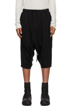 JULIUS Black Twisted Cropped Lounge Pants