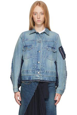 Sacai Blue Denim MA-1 Jacket