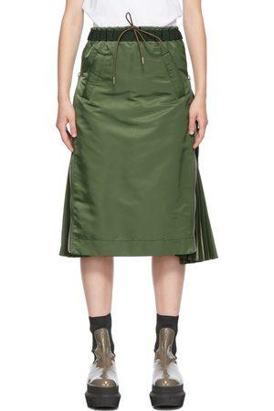 SACAI Women Midi Skirts - Khaki MA-1 Skirt