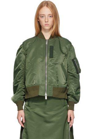 SACAI Khaki MA-1 Bomber Jacket