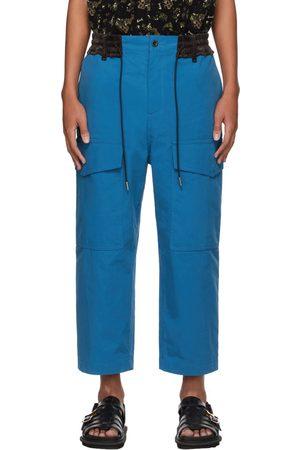 SACAI Blue Cropped Cargo Pants
