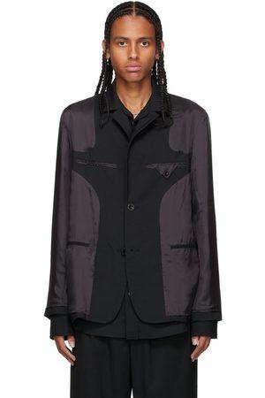SACAI Black Layered Suiting Blazer
