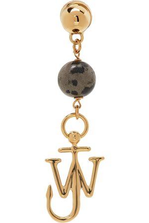 J.W.Anderson Men Earrings - Gold Asymmetric Anchor Earrings