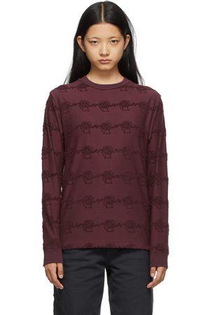 Brain Dead Burgundy Running Head Textured Long Sleeve T-Shirt