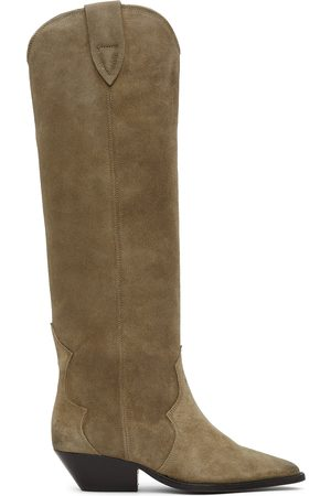 Isabel Marant Women Thigh High Boots - Taupe Denvee Tall Boots