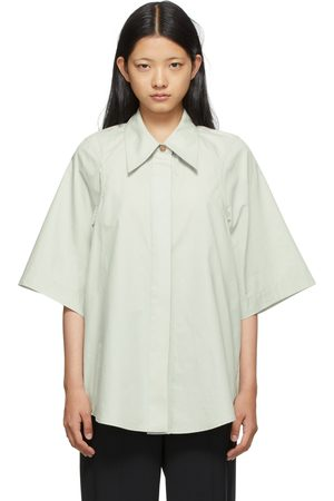Low Classic SSENSE Exclusive Taupe Armhole Stitch Short Sleeve Shirt