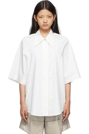 Low Classic SSENSE Exclusive White Armhole Stitch Short Sleeve Shirt