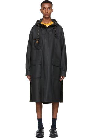 Fendi Black Coated Rain Coat