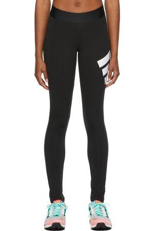 adidas Black Future Icons 3 Bar Sport Leggings