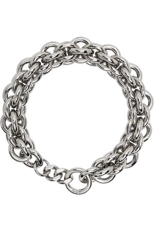 1017 ALYX 9SM Men Necklaces - Silver Dual Chunky Chain Necklace