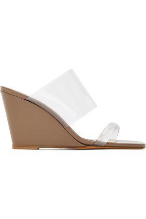 MARYAM NASSIR ZADEH Tan Olympia Wedge Sandals