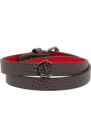 Christian Louboutin Men Bracelets - Grey Loubilink Logo Double Bracelet
