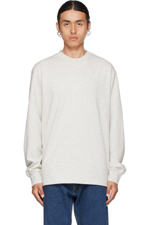 HAN Kjøbenhavn Grey Distressed Long Sleeve T-Shirt