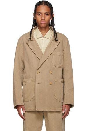 Taiga Takahashi Beige Sack Suit Blazer