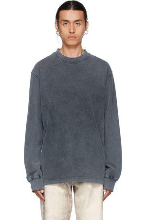HAN Kjøbenhavn Grey Faded Distressed Long Sleeve T-Shirt