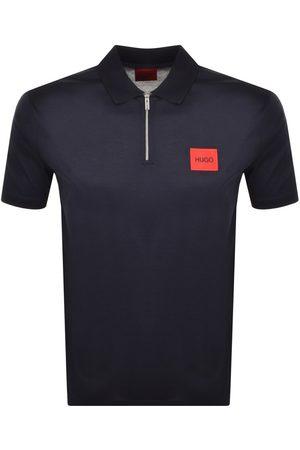 HUGO BOSS Deresom Half Zip Polo T Shirt Navy