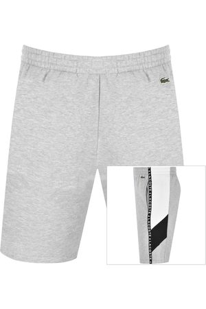 Lacoste Taped Logo Jersey Shorts Grey
