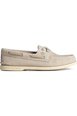 Sperry Top-Sider Men's Sperry Authentic Original 2-Eye PLUSHWAVE Checkmate Boat Shoe Grey, Size 7M