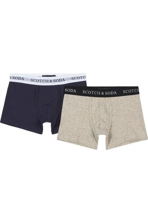 Scotch&Soda Kids - 2 Pack of Navy and Grey Organic Cotton Boxers - Boy - 6 years - Navy - Boxers
